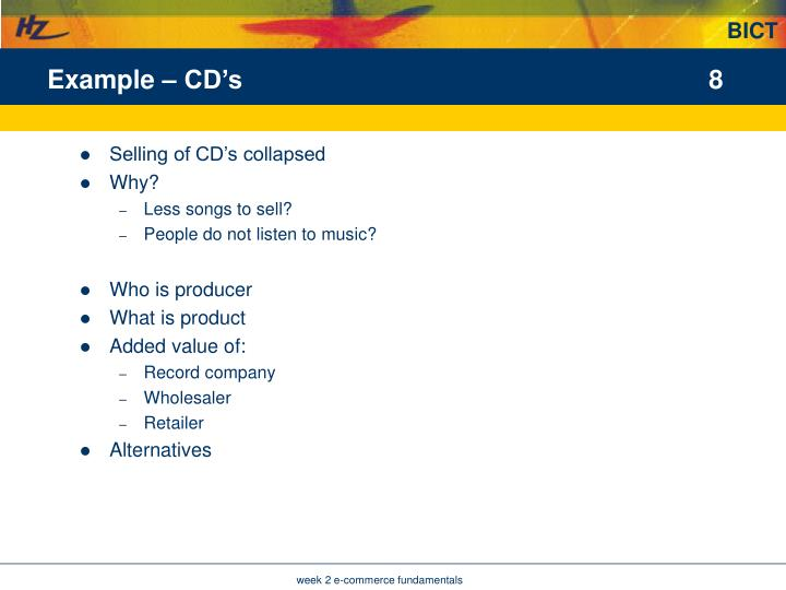 Example – CD's