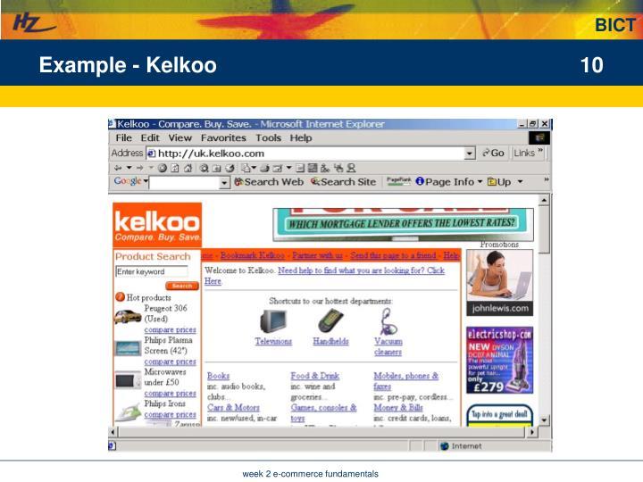 Example - Kelkoo