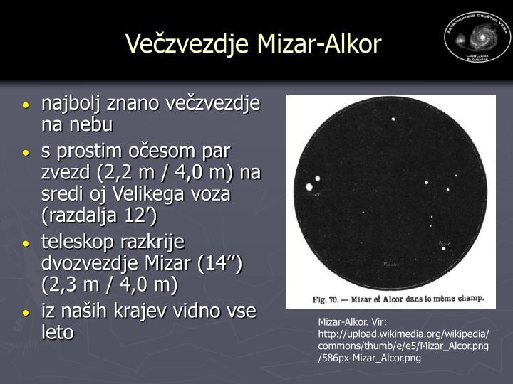 Večzvezdje Mizar-Alkor