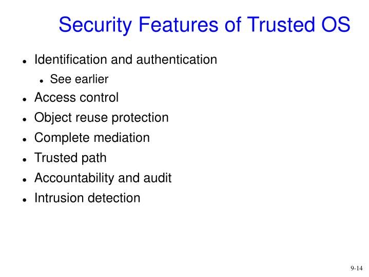 Security Features of Trusted OS