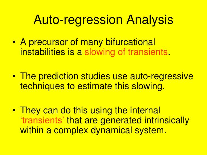 Auto-regression Analysis