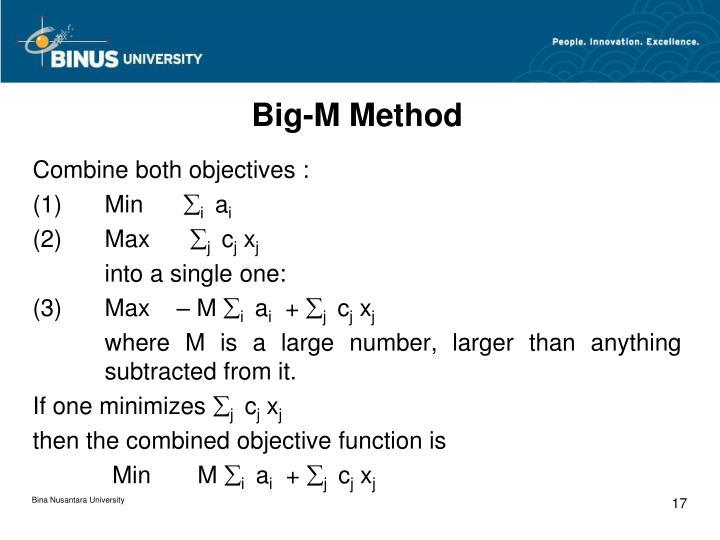Big-M Method