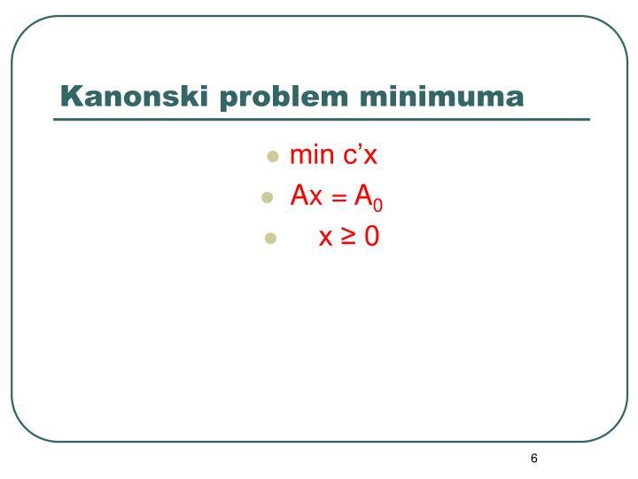 Kanonski problem minimuma