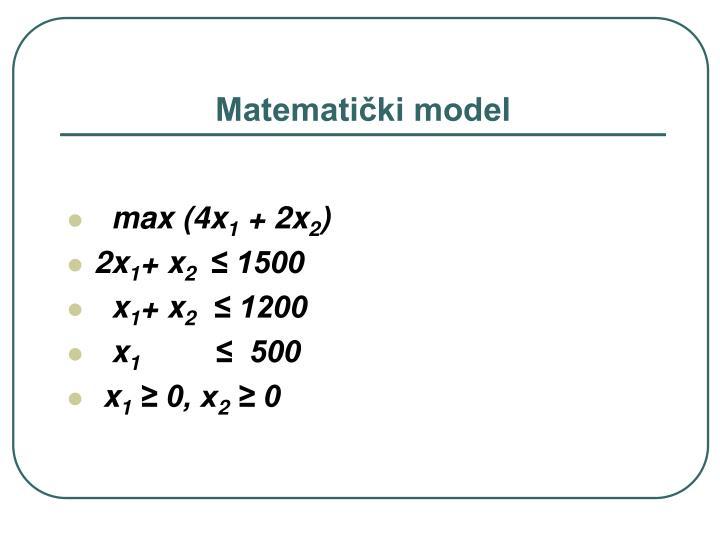 Matematički model