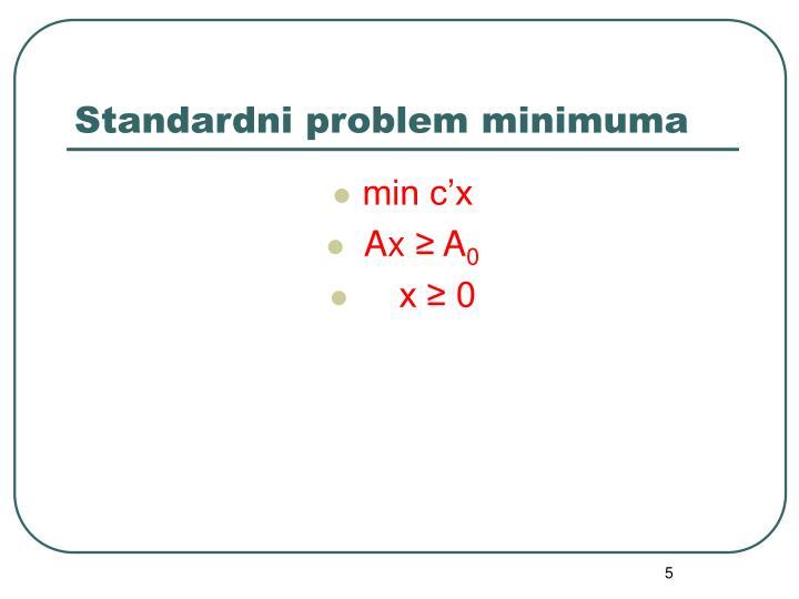 Standardni problem minimuma