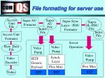 file formating for server use