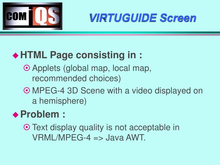 VIRTUGUIDE Screen
