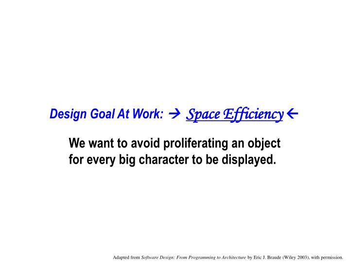 Design Goal At Work: