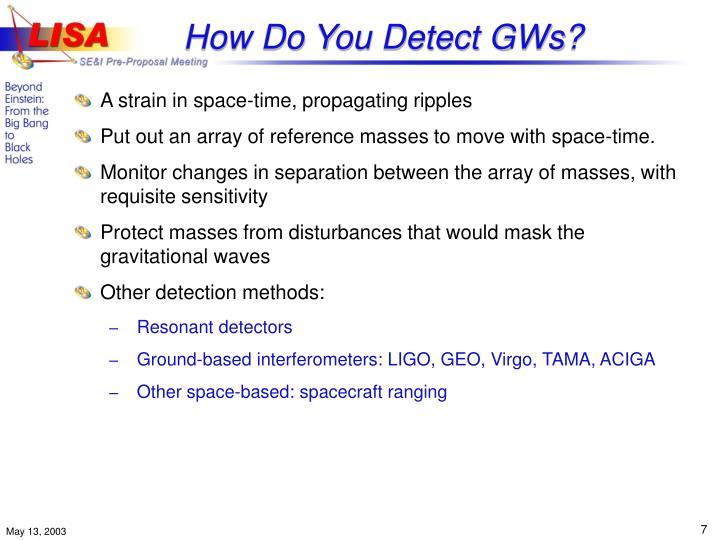 How Do You Detect GWs?