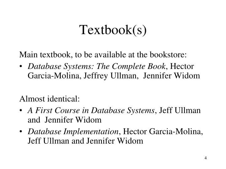 Textbook(s)