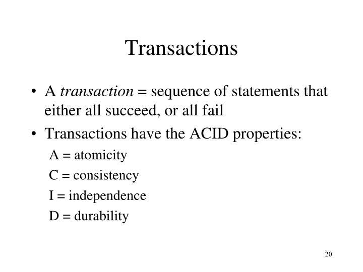 Transactions