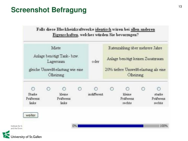 Screenshot Befragung