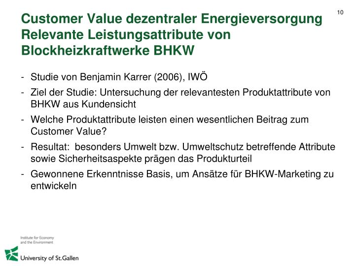 Customer Value dezentraler Energieversorgung