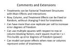 comments and extensions
