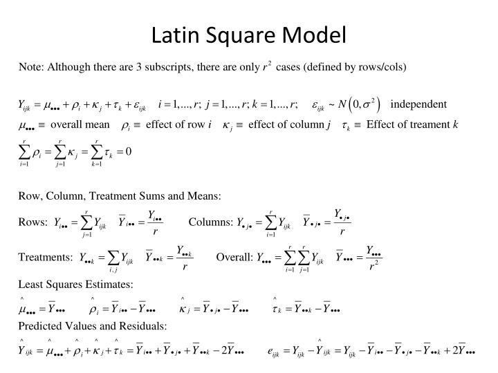 Latin Square Model