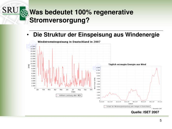 Was bedeutet 100% regenerative Stromversorgung?