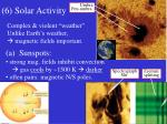 6 solar activity