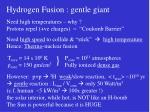 hydrogen fusion gentle giant