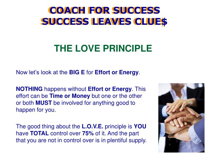 THE LOVE PRINCIPLE