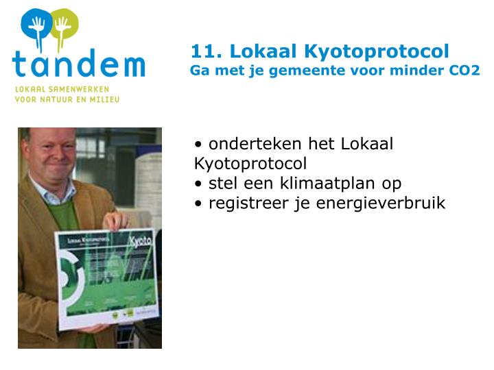 11. Lokaal Kyotoprotocol