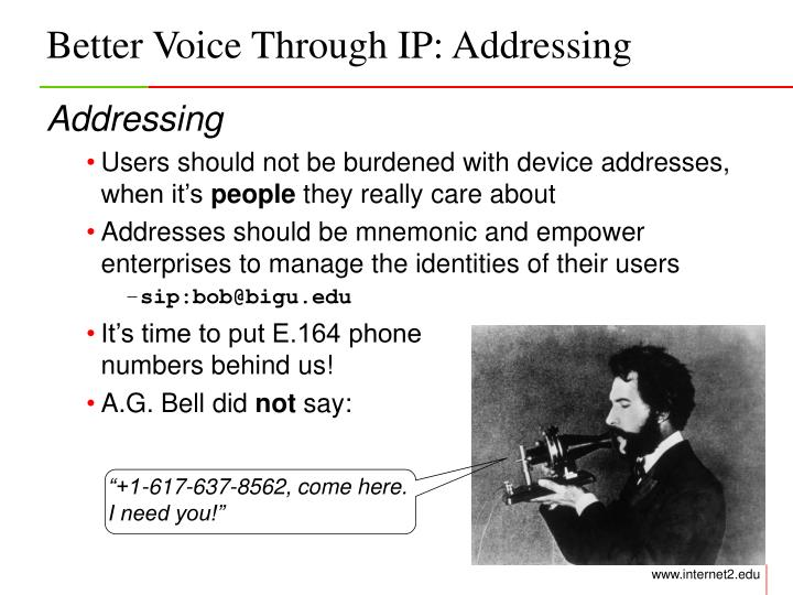 Better Voice Through IP: Addressing