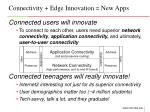 connectivity edge innovation new apps