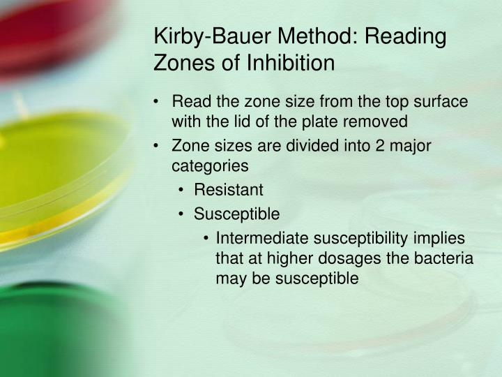 Kirby-Bauer Method: Reading Zones of Inhibition