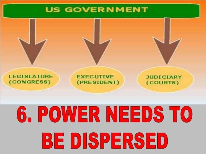 6. POWER NEEDS TO