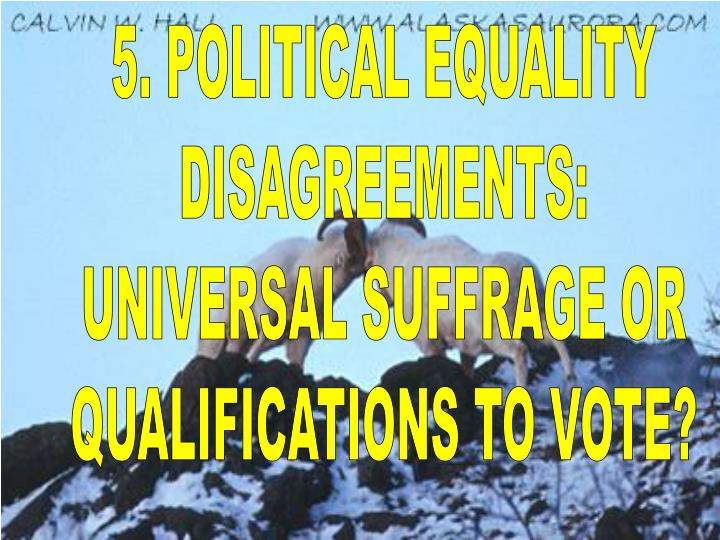 5. POLITICAL EQUALITY
