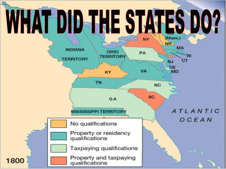 WHAT DID THE STATES DO?