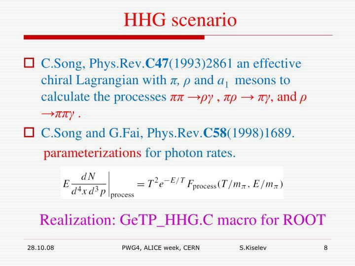 HHG scenario