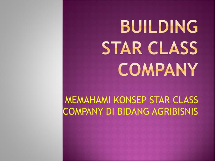 Building star class company