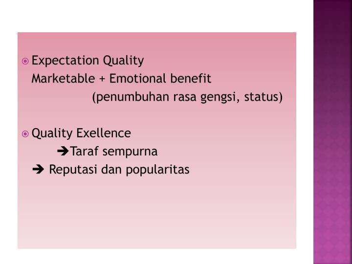 Expectation Quality