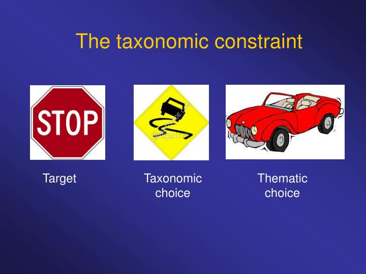 The taxonomic constraint