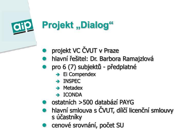 """Projekt """"Dialog"""""""