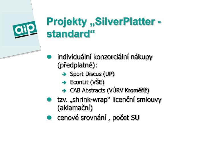 """Projekty """"SilverPlatter - standard"""""""