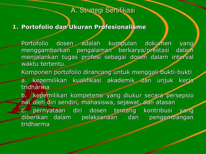 A.Strategi Sertifikasi