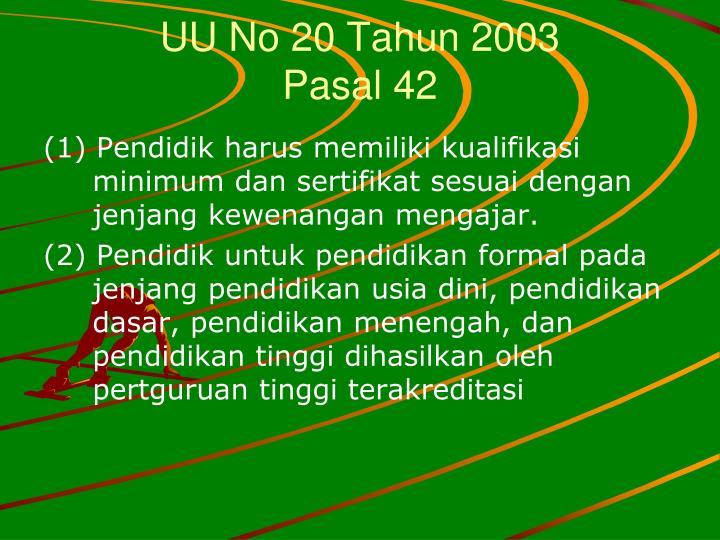 UU No 20 Tahun 2003