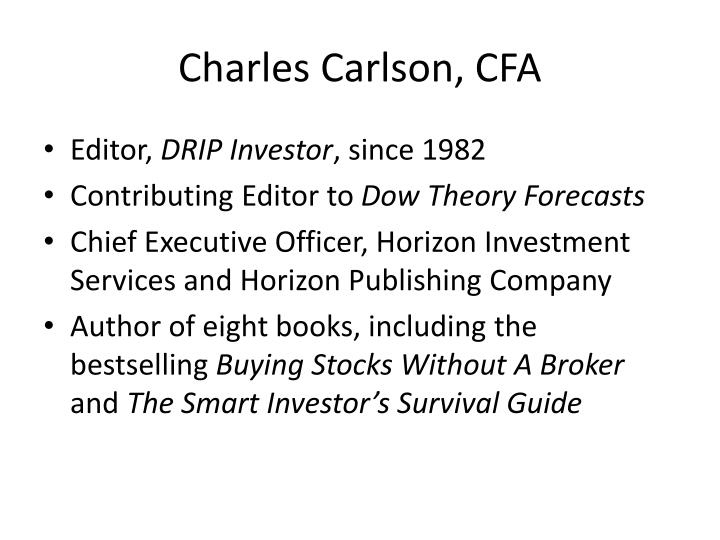 Charles Carlson, CFA