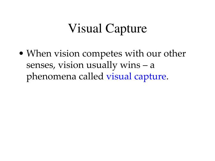 Visual Capture