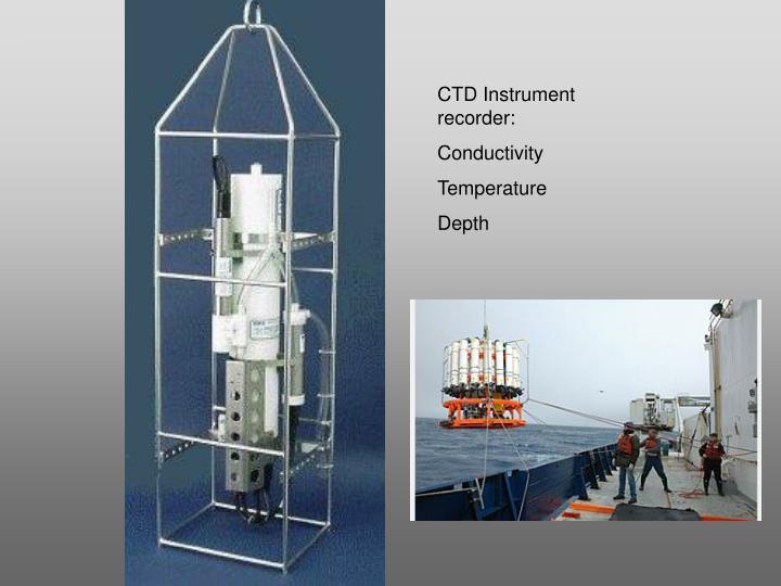CTD Instrument recorder:
