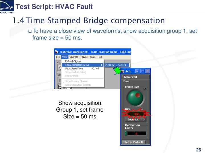 Test Script: HVAC Fault