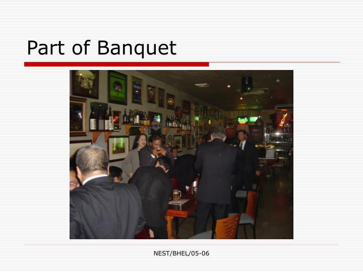 Part of Banquet