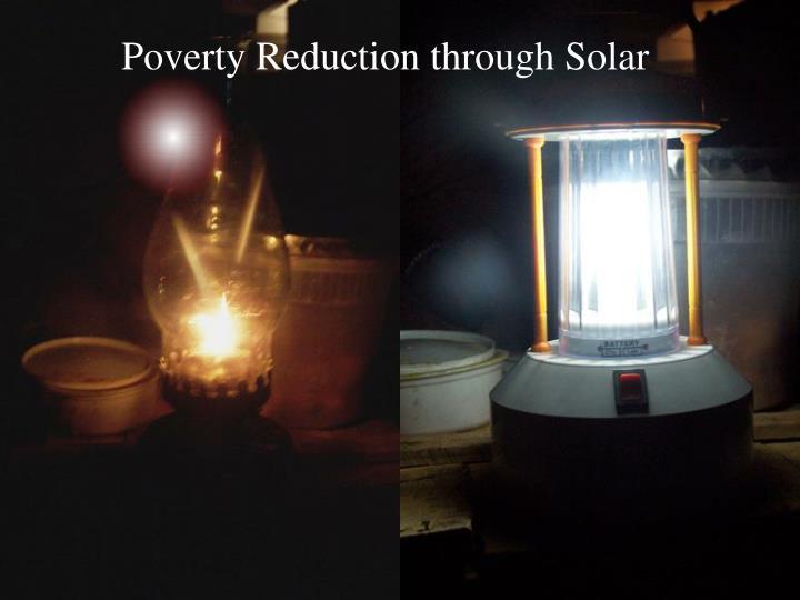 Poverty Reduction through Solar