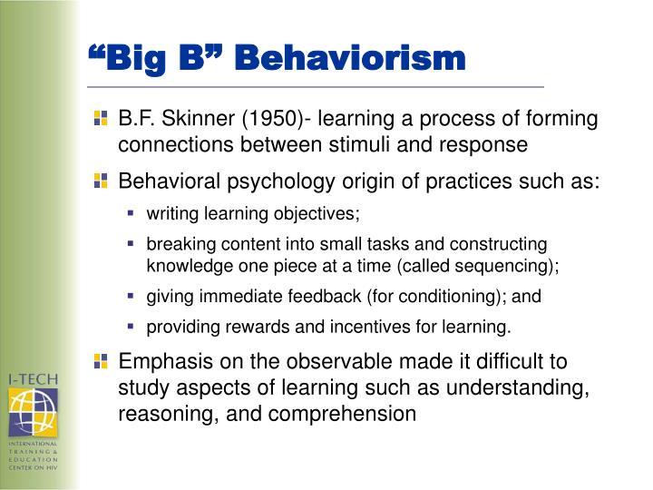 """Big B"" Behaviorism"