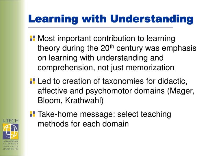 Learning with Understanding