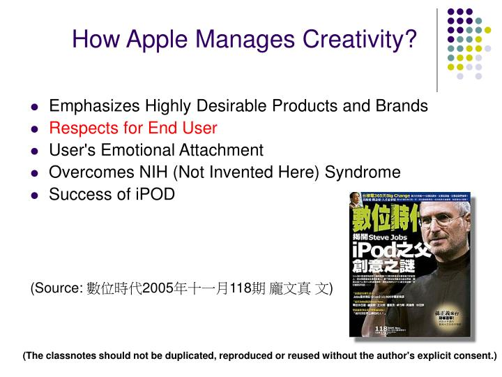 How Apple Manages Creativity?