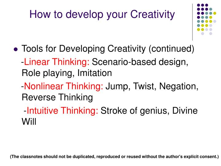 How to develop your Creativity