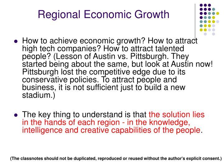 Regional Economic Growth