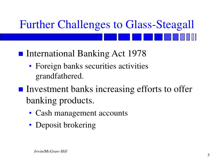 Further Challenges to Glass-Steagall